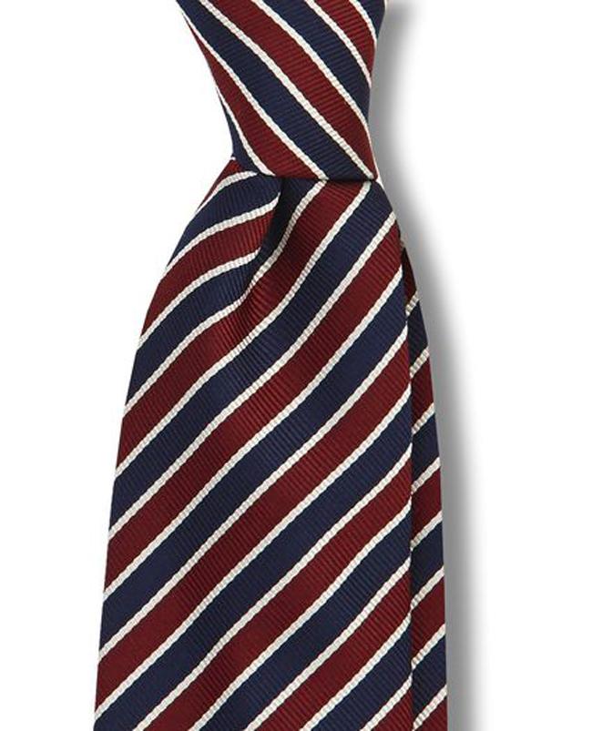 how ti tie a striped tie