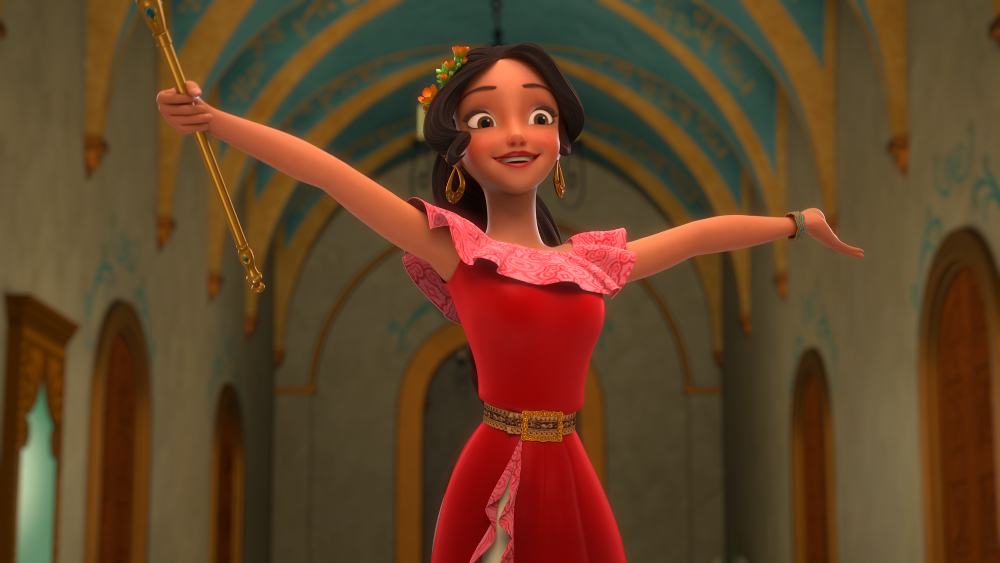 "ELENA OF AVALOR - ""First Day of Rule"" - Elena officially becomes crown princess and rescues her sister, Isabel, from Noblins, elf-like shapeshifting creatures based on a Chilean peuchen myth. (Disney Channel) ELENA"